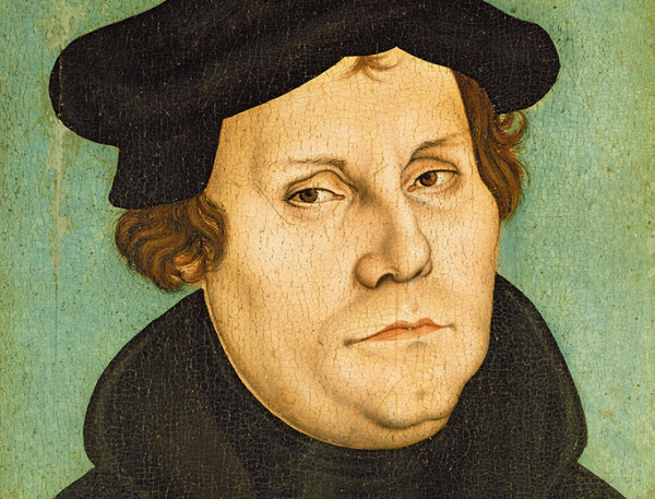 Luther as Professor, 1529 (oil on panel) by Cranach, Lucas, the Elder (1472-1553); Schlossmuseum, Weimar, Germany; (add.info.: Luther als Professor; Martin Luther (1483-1546);); German, out of copyright