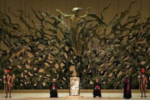 &quot;Resurrection&quot; sculpture in the Paul VI audience hall